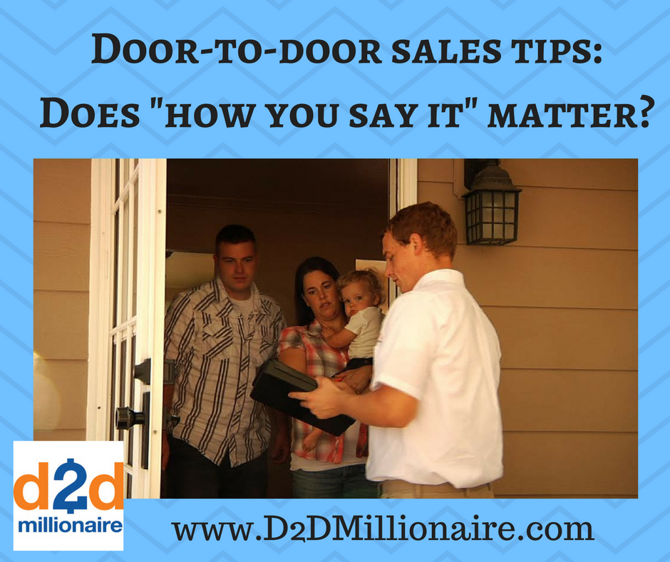 D2d for Door to door salesman